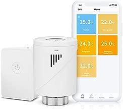 Válvula Termostática Wi-Fi Inteligente Meross, Termostato de Calefacción Programable, con Pantalla LCD, Compatible con Alexa, Google Assistant e IFTTT, con hub, MTS100H. (M30*1,5)