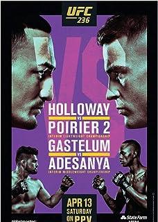 arteWOODS Holloway VS Poirier 2 Fight Event UFC 236 Art Poster Print Canvas Decoración para el hogar Picture Wall Print Print en lienzo50x70cm con Marco