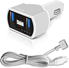 GISSARAL GISCCA-AM2 90W Laptop Car Charger for 2012 to 2015 Retina MacBook Pro MacBook Air and MacBook; Dual USB Quick Charge for Apple or Android Smartphones and Tablets