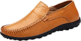 Men's Liberva Genuine Leather Slip-on Loafer Casual Shoes Breathable Driving Shoes