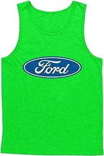 Mens Tank Top Blue Ford Logo