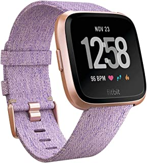 Fitbit Versa Health & Fitness Smartwatch with Heart Rate, 4+ Day Battery & Water Resistance, Special Edition, Lavender Woven/Rose Gold Aluminum
