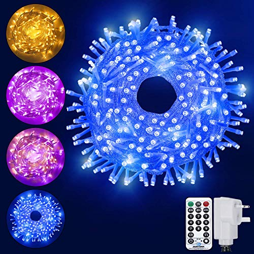 Ollny String Light, 200 Led Color Changing Fairy Light, Christmas Lights Plug in Connectable Light with Remote Timer & 11 Modes for Indoor Outdoor Bedroom Garden Decorations 20m