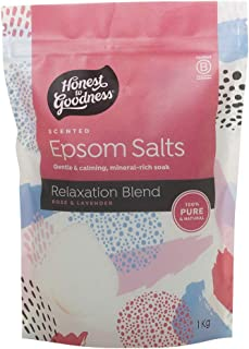 Honest to Goodness Scented Epsom Salts Relaxation Blend Rose and Lavender, Rose and Lavender,