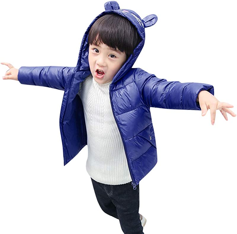 Kids Winter Thick Warm Windproof Down Cotton Coat Jacket For Girls Boys