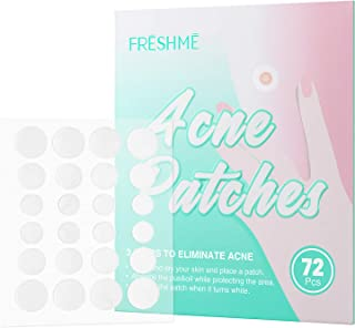 Acne Pimple Patches - FRESHME Hydrocolloid Healing Pads Invisible Absorbing Cover with Tea Tree & Calendula Oil Spots Skin...