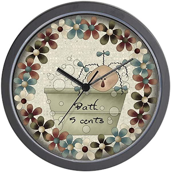 CafePress Country Tub Bath Unique Decorative 10 Wall Clock