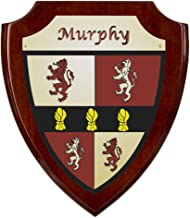 Murphy Irish Coat of Arms Shield Plaque - Rosewood Finish