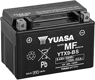 Batería Yuasa YTX9-BS de BS, 12V/8Ah (tamaño: 150x 87x 105) para Kymco Venox 250Diseño Año 2009