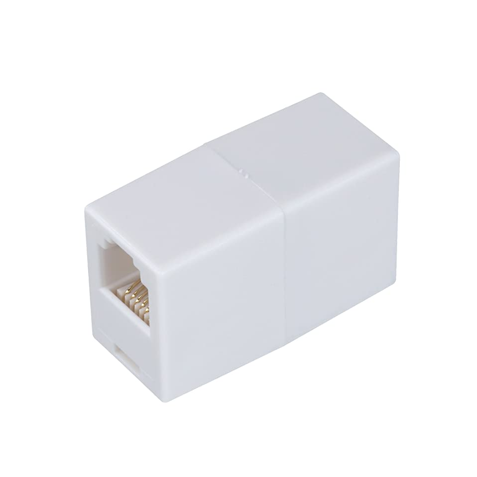 AmerTac - Zenith TS1001CW TS1001CW 6 Conductor Inline Coupler, White Landline Telephone Accessory