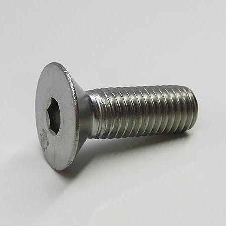 rostfrei DERING Senkkopfschrauben M8x80//80 mit Innensechskant DIN 7991 Edelstahl A2 10 St/ück | Senkschrauben ISK