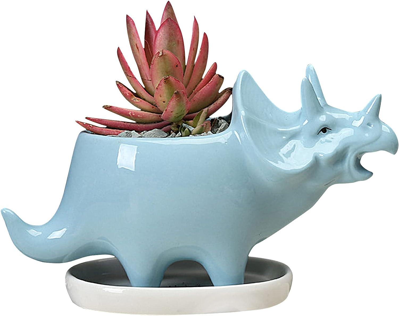Succulent Ceramic Dinosaur Planter Pots Height Inch Mesa Mall Pl Super-cheap 7 Animal