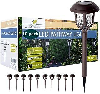 عبوة بها 10 مصابيح شمسية للديكور الخارجي، واضواء مسار الطاقة الشمسية، وأضواء ساحة الحديقة والخارج تعمل بالطاقة الشمسية للم...
