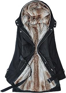 LvRao Women Long Winter Hooded Coats Jackets Faux Fur Lined Parka Coat for Ladies 3 Colors