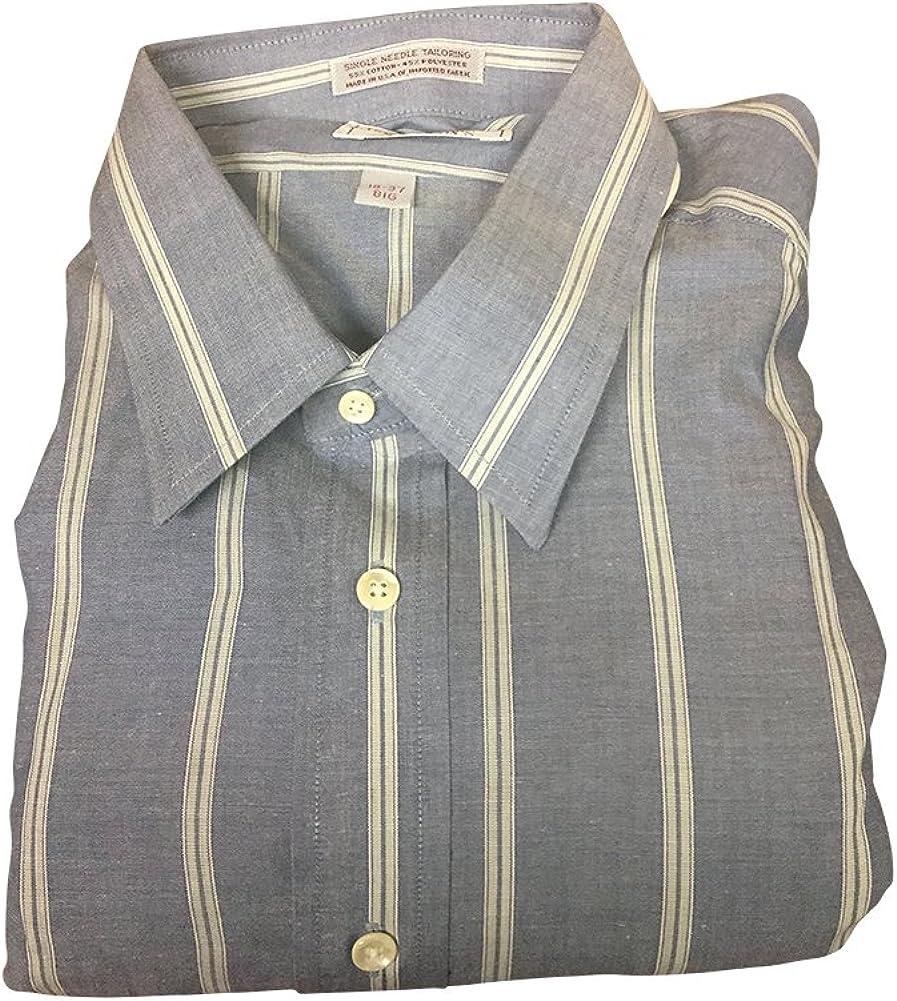 Douglas Scott Big and Tall USA Made Wrinkle Free Broadcloth Dress Shirts