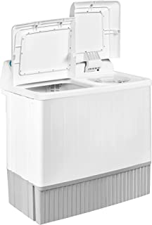 Super General 12 kg Twin-tub Semi-Automatic Washing Machine, White, efficient Top-Load Washer with Low noise gear box, Spi...