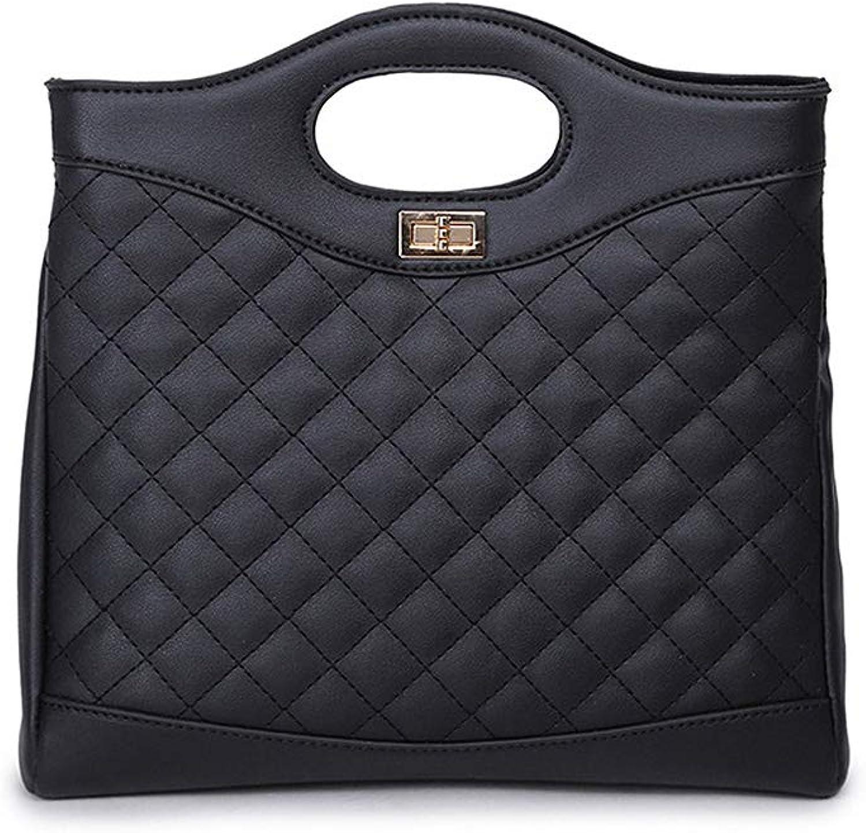 Onzama Women Fashion Designer Quilted Crossbody Shoulder Bags PU Leather Purse Top Handle Satchel Handbags