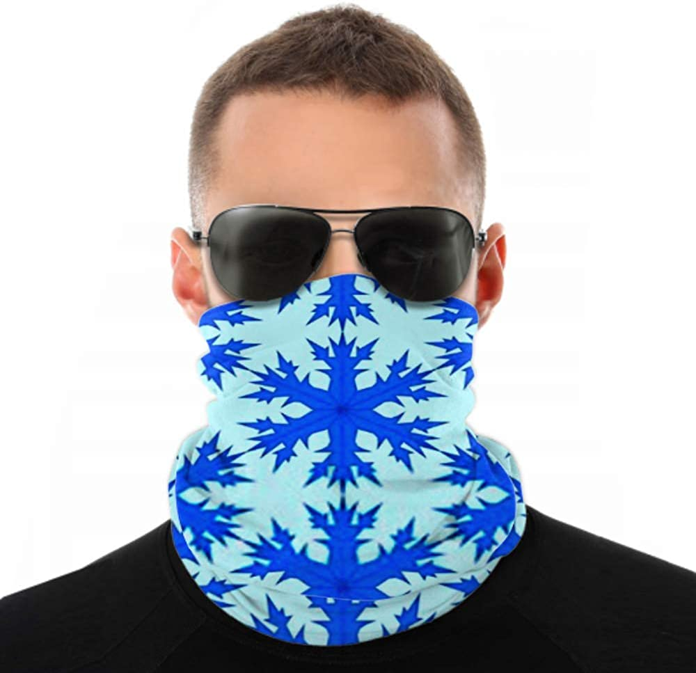 Headbands For Men Women Neck Gaiter, Face Mask, Headband, Scarf Background Snowflakes Vector Pattern Turban Multi Scarf Double Sided Print Sport Headbands For Sport Outdoor