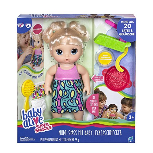 Hasbro Baby Alive C0963100 - Baby Leckerschmecker, Puppe