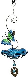 Heath Outdoor Products 21524 Butterfly Bliss Bird Feeder or Bath, Blue