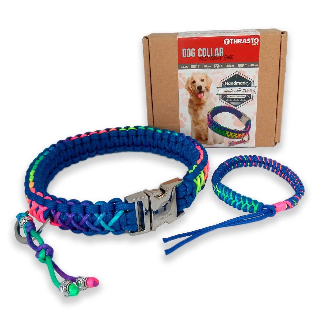 Thrasto Pets Dog Collar Rainbow One + Regalo de pulsera, perfecto ...