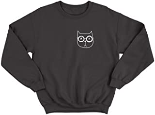 Cat with Eyeglasses Little Cute Kitty_000493 Ugly Christmas Sweater Crewneck Sweatshirt Gift for Him Her