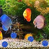 Wosune Material de Acuario, Bola de Filtro de Tanque de Peces de Agua de mar Medios de Filtro biológicos limpiables, Filtro de Tanque de Peces Filtro de Acuario