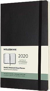 comprar comparacion Moleskine - Agenda Semanal de 12 Meses 2020, Tapa Blanda y Goma Elástica, Color Negro, Tamaño Grande 13 x 21 cm, 144 Págin...