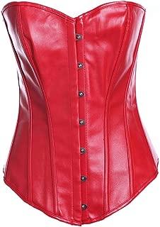 Women Underbust Leather Bandage Waist Trainer Corsets Shapewear Body Shaper