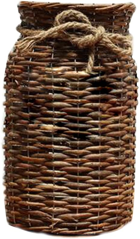 POPGRAT 12'' High Wicker Free shipping on posting reviews Vase for Basket Vases Rustic Popular brand Decor Wood