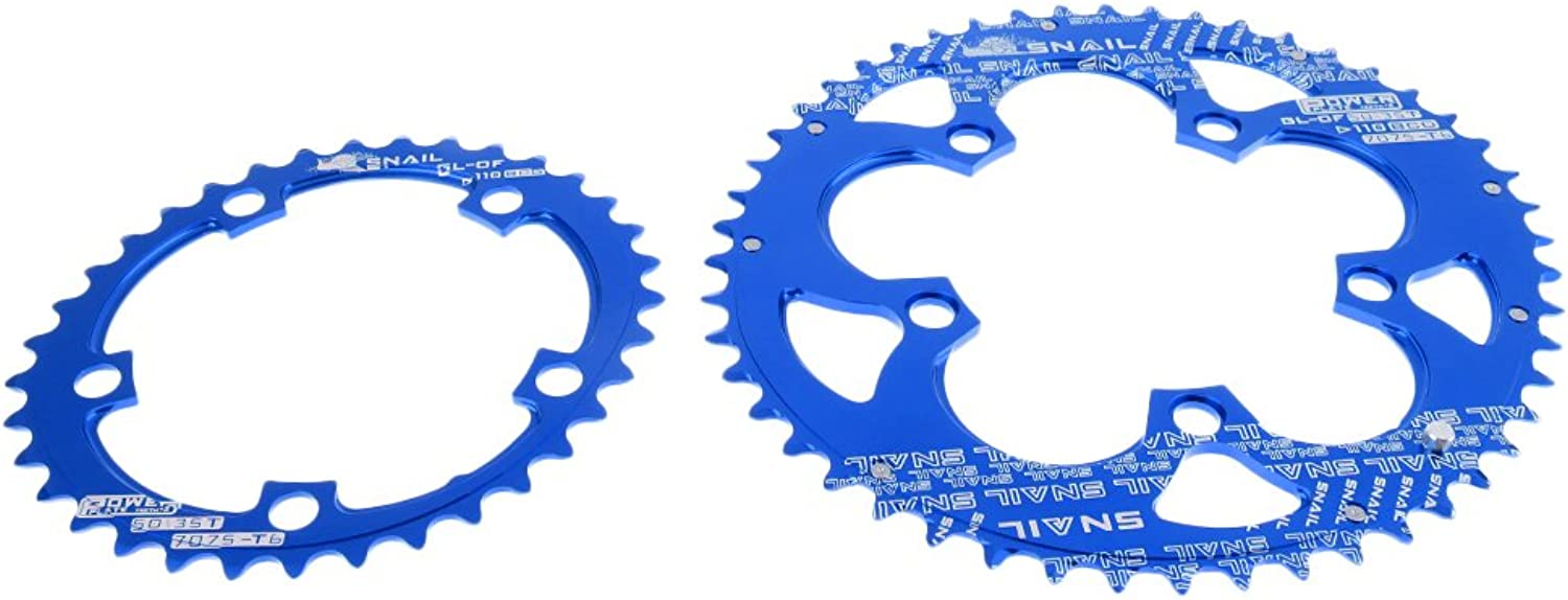 Simhoa Bike Chainring Set Double Oval Chainring BCD 110mm Bicycle Chain Ring 35 50T