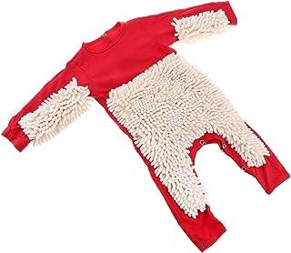 Fenteer Baby Kleidung Wischmop Strampler Reinigungsmop Overall Mädchen Jungen Jumpsuit Babykleidung zum Krabbeln