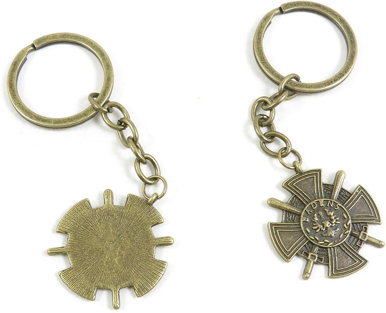140 Pieces Fashion Jewelry Keyring Keychain Door Car Key Tag Ring Chain Supplier Supply Wholesale Bulk Lots B6NF6 Sword Cross Shield