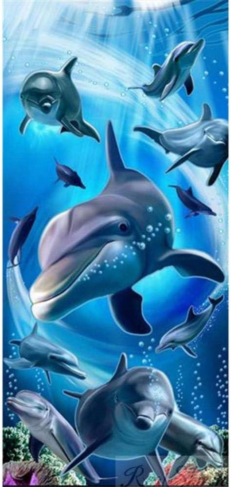 Washington Mall 5D DIY Diamond Painting Kits 100x200c Full Dolphins Drill Marine Direct stock discount