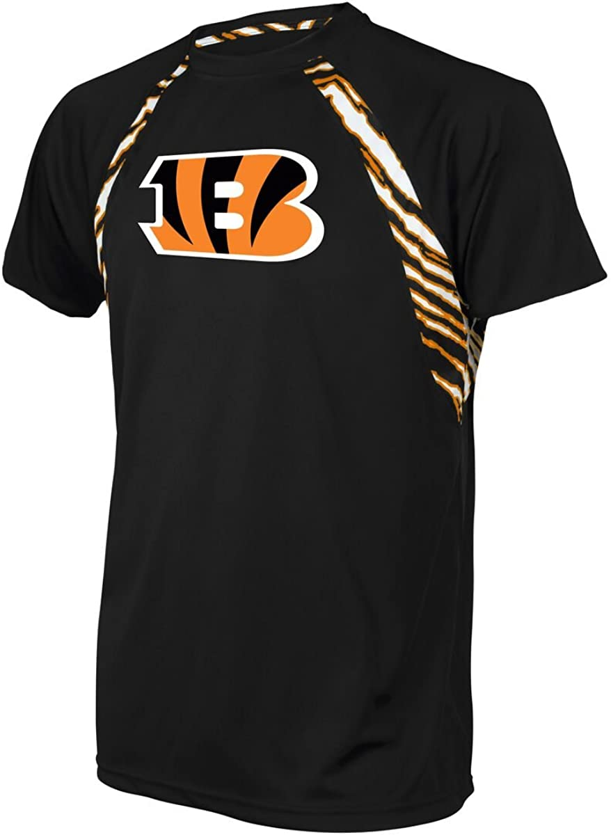 Zubaz Officially Licensed Men's NFL Accent T Raglan Don't miss Cheap super special price the campaign Zebra