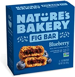 Nature's Bakery Bluberry Fig Bar, 56.7g (Pack of 6)