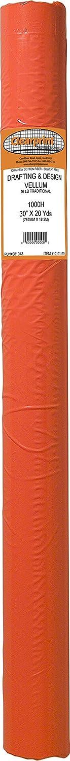 Clearprint 1000h Design Pergamentpapier Rolle, 16 Lb., 100% Baumwolle, 76,2 76,2 76,2 cm W x 20 Meter lang, je 1 (10101139) B000KNL7PE  | Elegantes Aussehen  2715f1