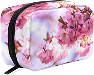 b0dd42556f963e Unicey Bloom Sakura Makeup Bags Portable Tote Cosmetics Bag Travel Cosmetic  Organizer Toiletry Bag Make-