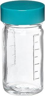 4oz Capacity Case of 24 51mm OD x 102mm Height Qorpak GLC-01523 Clear Glass Graduated Medium Round Bottle with 48-400 Black Phenolic Pulp//Vinyl Lined Cap