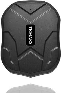 Balscw-Z Rastreador de Coche, GPS Tracker Mini localizador de vehículos Tracker 5000mAh 3 Meses Sistema de Alarma en Esper...