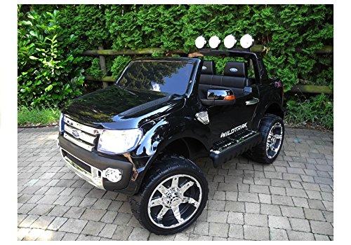 RC Auto kaufen Kinderauto Bild 4: Elektro Kinderauto Elektrisch Ride On Kinderfahrzeug Elektroauto Fernbedienung - Ford Ranger 2-Sitzer - Schwarz*