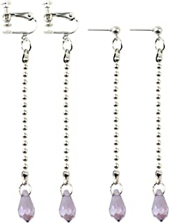 2 Pair Anime Kurapika Earring Hunter x Hunter Water Drop Crystal Earrings Cosplay Accessories Handmade Eardrops Jewelry Va...