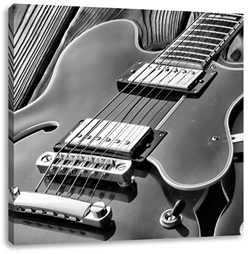 elektrische gitaarCanvas Foto Plein   Maat: 40x40 cm   Wanddecoraties   Kunstdruk   Volledig gemonteerd