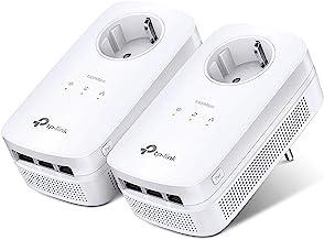 TP-Link AV1300 Passthrough Powerline KIT, Wi-Fi AC 1300 Mbps, 3 Gigabit-poorten, 2 × 2 MIMO, Homeplug AV2 (TL-PA8030P KIT)