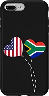 iPhone 7 Plus/8 Plus South Africa USA Flag Heart South African Americans Love Case