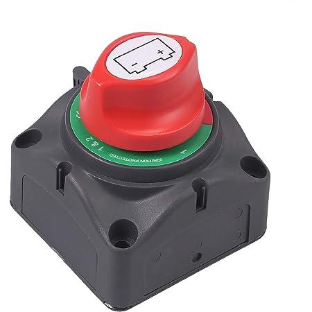 Akozon Interruttore di Isolamento Batteria Interruttore Stacca Batteria 32 V 200A CONT 300A INT per Auto//Fuoristrada//Camion Interruttore Staccabatteria per Batteria Auto