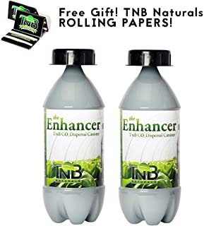 TNB Naturals CO2 Bottle Dual Pack with Free TNB Rolling Papers