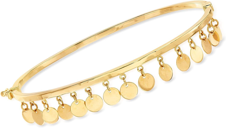 Ross-Simons 14kt Yellow Gold Multi-Dangle Bangle Bracelet