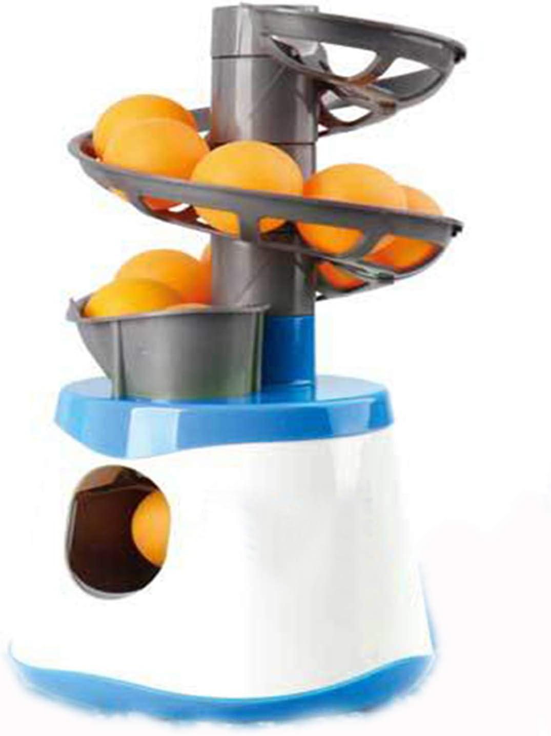 ASDQWER Robot de Tenis de Mesa, Máquina de Bola de diversión, Lanzador, para su Juego de Mesa de Ping Pong o Practicar Ping Pong en Cualquier Momento Durante el Tiempo Que Quieras,Azul