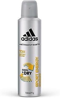 Desodorante Aerossol Antitranspirante Adidas Masculino Sport Energy 150ml, adidas, Branco, 150 ml